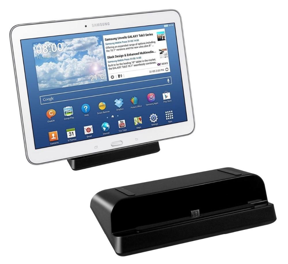 Soporte de estación de carga para cargador Micro USB de escritorio para Samsung Galaxy Tab 3 Tab 4 7,0 8,0 10,1 Note 8,0 cargador de pared