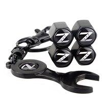 Porte-clés pour Nissan 350-z 370z Leaf   Roue de voiture, coiffage de Valve, Logo pour Nissan, Juke