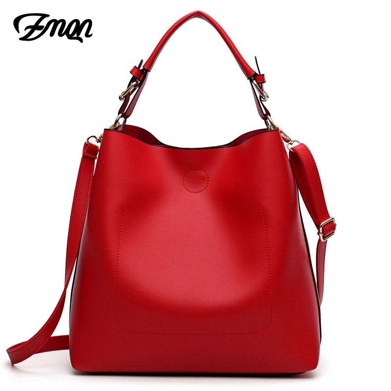 ZMQN, bolsas de mensajero para mujeres, 2020 bolsos conjunto de bolso de lujo bolsa mujeres hombro bolso de gran capacidad cubo bolsas de cuero de la PU rojo A912