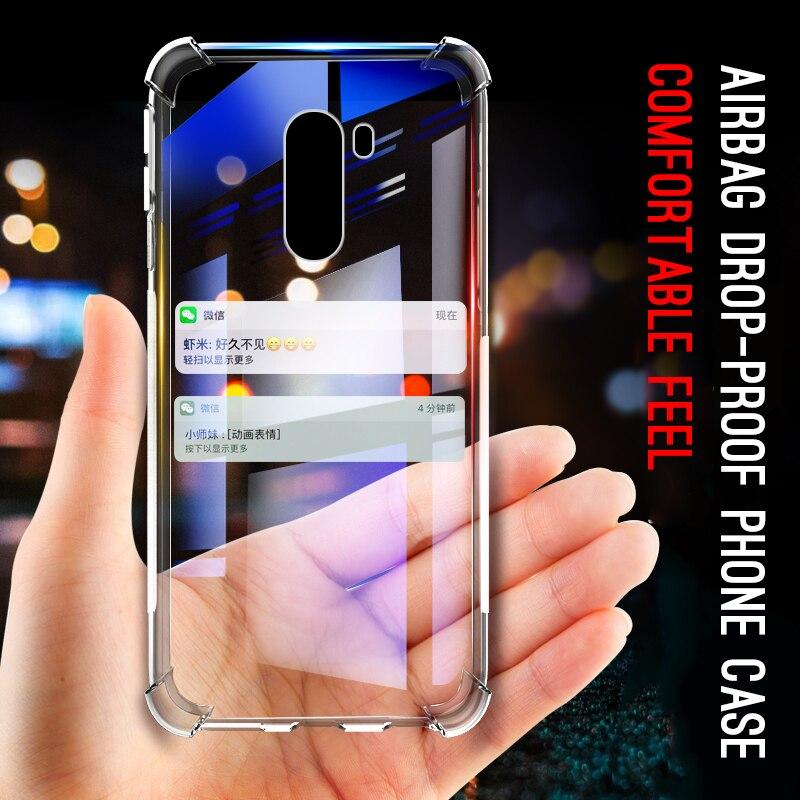 Airbag Anti-knock carcasas transparentes para móvil para Xiaomi Redmi teléfono móvil F1 A1 A2 5Plus Nota 6 pro Nota 5 6A 6 suave casos Fundas