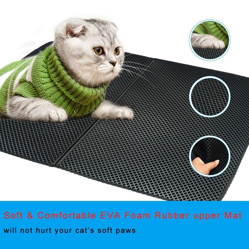 Складной для домашних животных песочный коврик двухслойный кошка собака