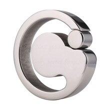 304 anneaux de pénis de civière de boule dacier inoxydable anneaux de Scrotum de conception de cannelure du, jouets sexuels de Cockring en métal de Bondage Pendant pour des hommes