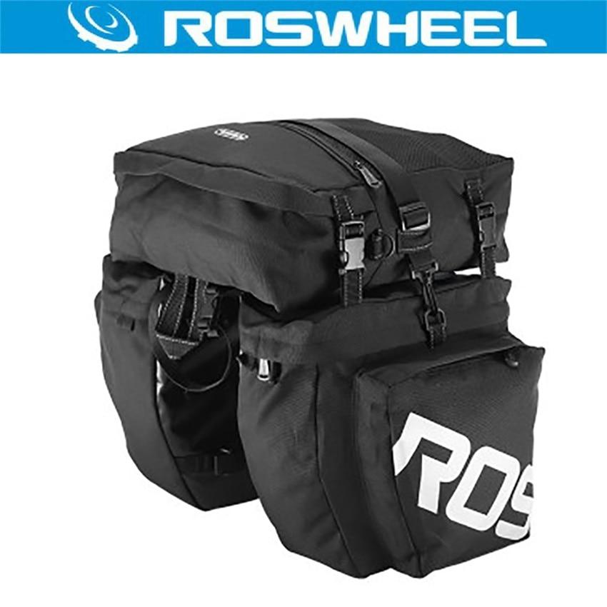 Bolsa de bicicleta ROSWHEEL 37L 3 en 1 doble bicicleta maletero del asiento trasero bolso de mano bicicleta alforja bolsa de bicicleta accesorios de bicicleta