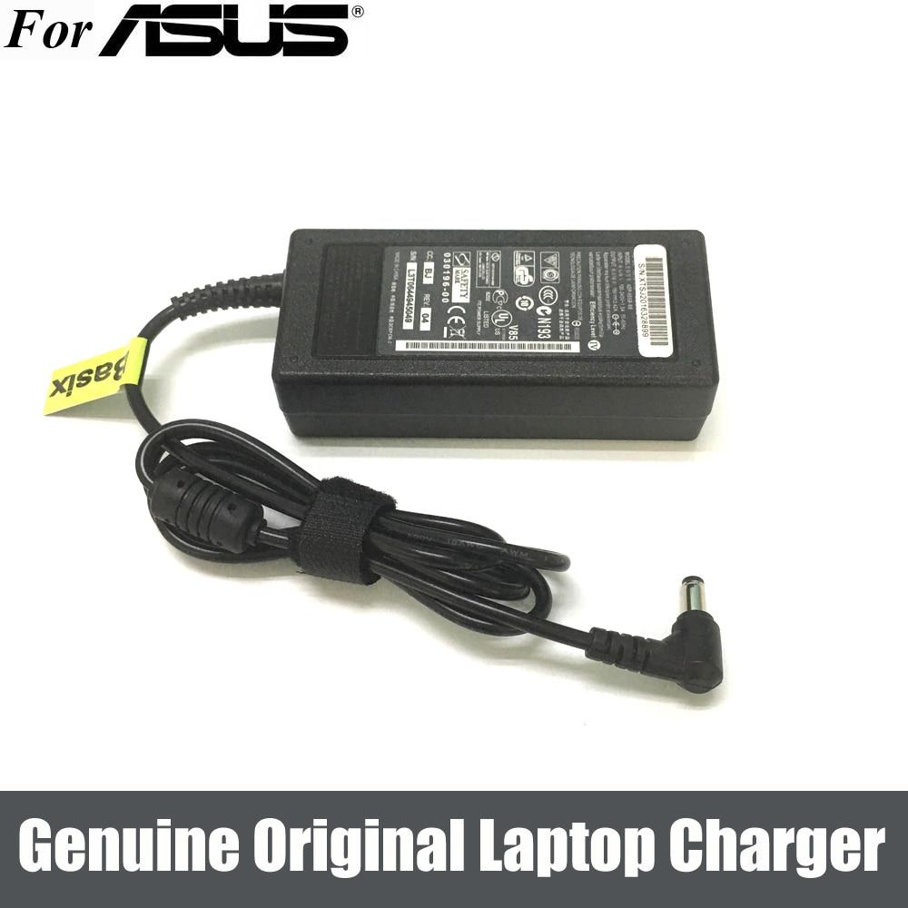 Original 65W 19V 3.42A portátil cargador/adaptador de CA de suministro de energía para ASUS P52F K53E-SX1801V X54C-SX078V X52N K72F-TY011V
