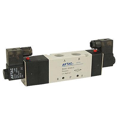 Dc 24 فولت 4V430-15 3 الوظيفة 5 الطريق اللولبي eauxq الهواء