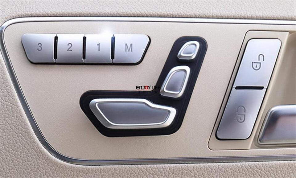Memoria del sedile Blocco Sblocco Tasto di Interruttore di Copertura Trim Per Mercedes Benz GLK GLE CLA CLS ML GL Classe GLA w212 C117 X156 W218 W166