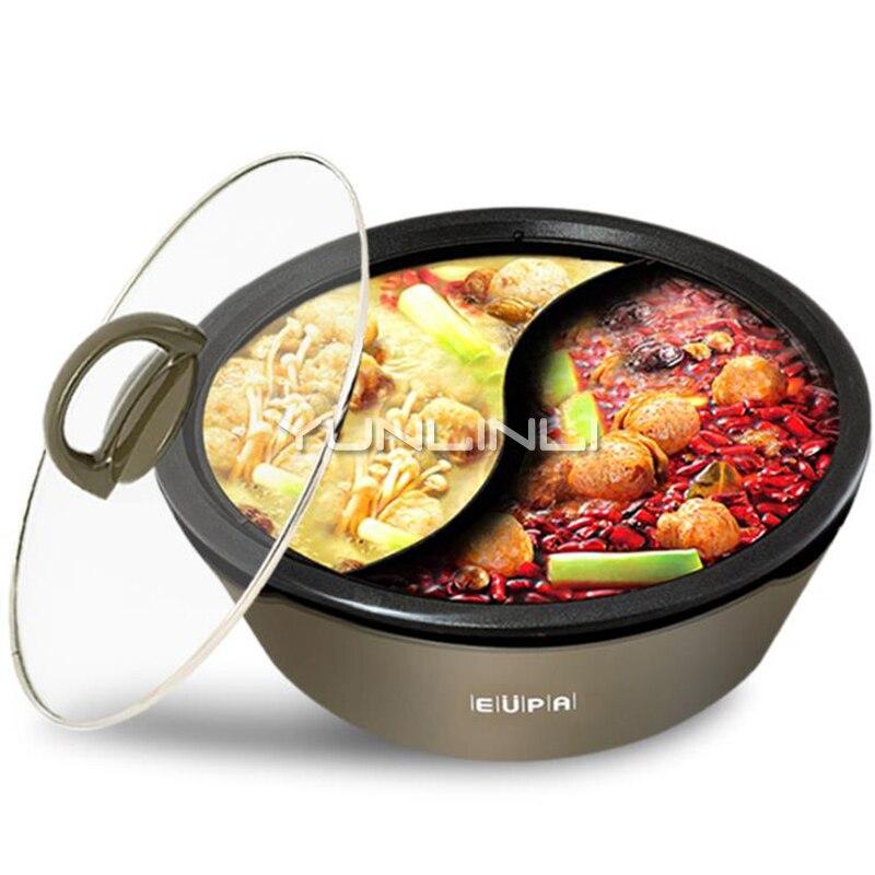 وعاء كهربائي ساخن شابو متعدد الوظائف غير عصا سبائك الألومنيوم طباخ مطبخ منزلي TSK-8219YG