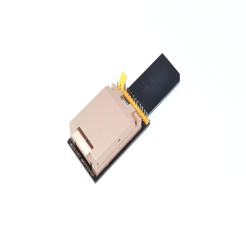 ALLSOCKET FBGA153/169-SD lector, eMMC153 + 169 adaptador de Chip-off móvil de recuperación de datos eMMC programación (BGA153/169-Adaptador de aleación)