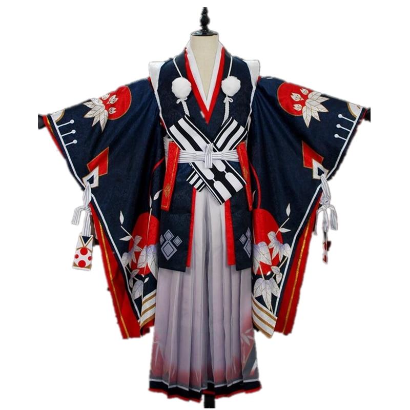 Game Onmyoji SSR Onikiri Cosplay Costume Halloween Costumes Kimono Japanese Stlye Cosplay Suits Full Set Sword Wig Shoes Costume