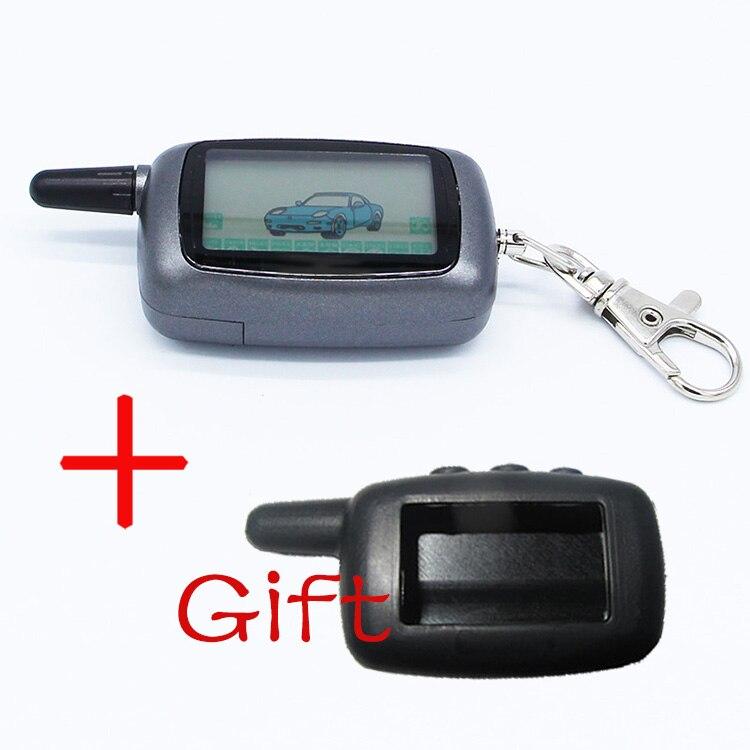 KGB FX-5 FX5 FX 5 Russland Version Fall Keychain Für Starline A9 LCD Remote 2 Weise Zwei Weg Auto Alarm system + silikon fall