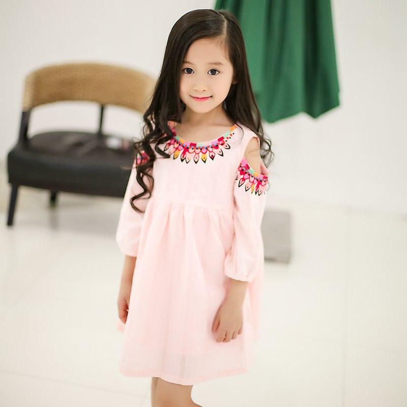 Alta calidad Vestido Infantil de verano de los niños ropa de la...