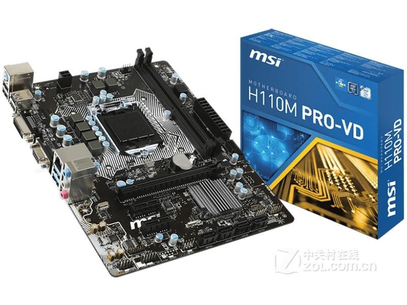 Новая материнская плата MSI H110M PRO-VD LGA 1151 DDR4 USB2.0 USB3.1 SATA3 DVI VGA 32GB H110 настольная материнская плата бесплатная доставка