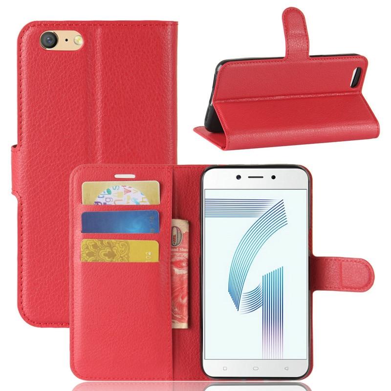 """Para Oppo A71 WIERSS de cuero Flip de lujo de la cubierta del caso para Oppo A71 5,2 """"de la cubierta del teléfono del caso de shell + tarjeta + soporte"""