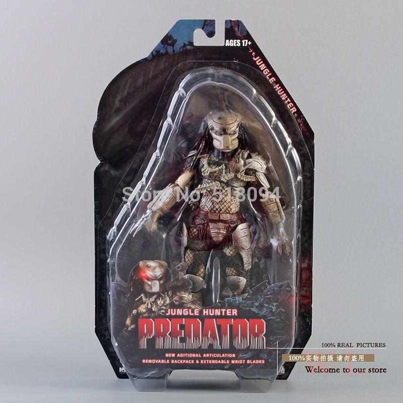 """Envío Gratis NECA Predator serie 8 depredador clásico 25th aniversario selva cazador de PVC MODELO DE figura de acción de juguete 8 """"20 cm"""
