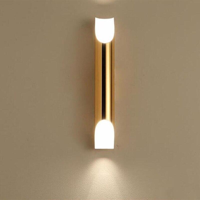 الشمال آخر-الحديثة الألومنيوم الجدار مصابيح الذهب/أبيض/أسود الجسم وحدة إضاءة LED جداريّة ضوء لغرفة المعيشة مصباح غرفة النوم الممر شحن مجاني