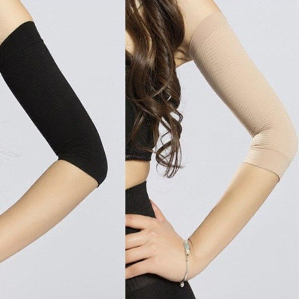 1 paire 420D Compression minceur bras manches entraînement tonifiant brûlure Cellulite Shaper graisse brûlante manches pour les femmes