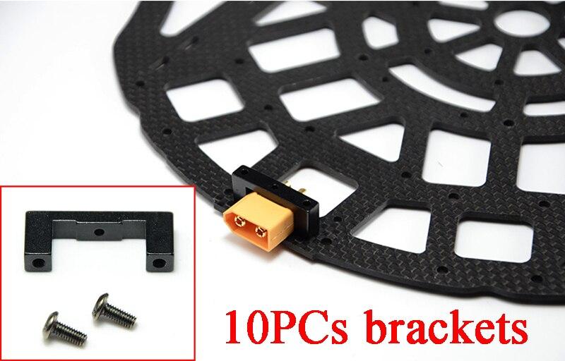 10PCs CNC Alloy XT60 XT90 Plug Mount Bracket Fixator Clip Clamp Damping Mounting Seat Base Support Holder For FPV RC Quad Multi