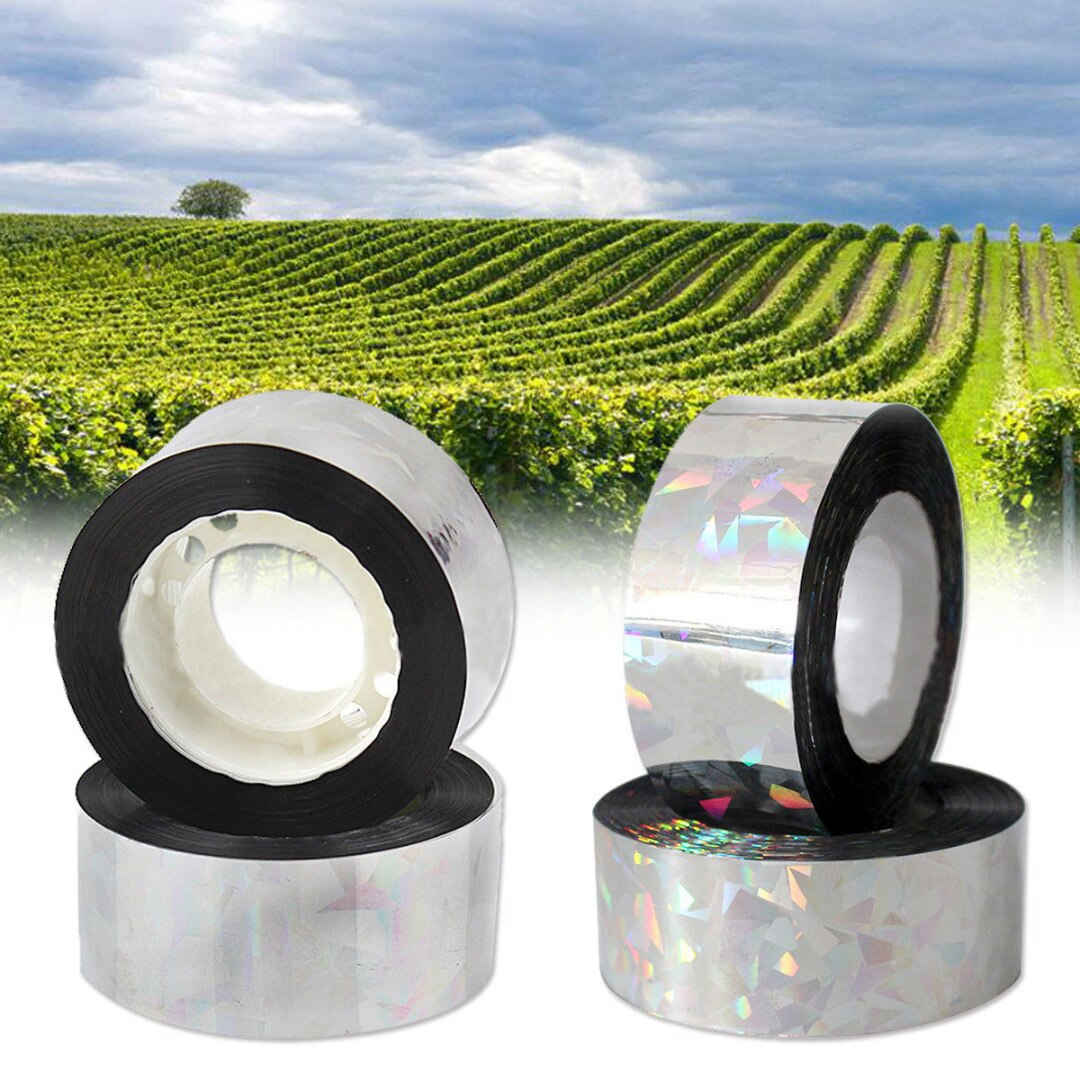 80M Flash Reflective Bird Scare Tape Audible Repellent Fox Pigeons Repeller Ribbon Deterrent Tapes 2.4CM Orchard Pest Control