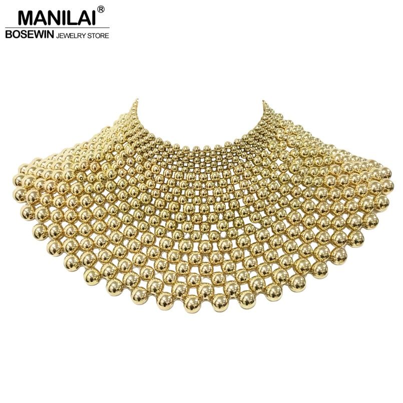 MANILAI-قلادات مطرزة يدويًا للنساء ، مجوهرات هندية ، قلادة ماكسي ، لفستان الزفاف