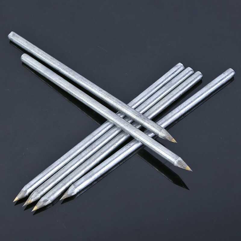 2 pièces coupe-verre diamant, coupe-carreaux, machine de découpe, stylo à lettres en métal dur scriber carbure, outils de construction