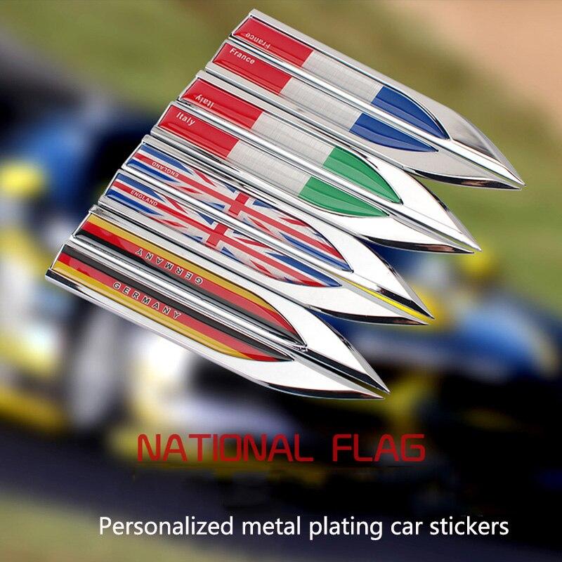 Etiqueta engomada del coche con forma de bandera lateral del guardabarros accesorios para el coche Opel Mokka zafira corsa astra insignia vectra