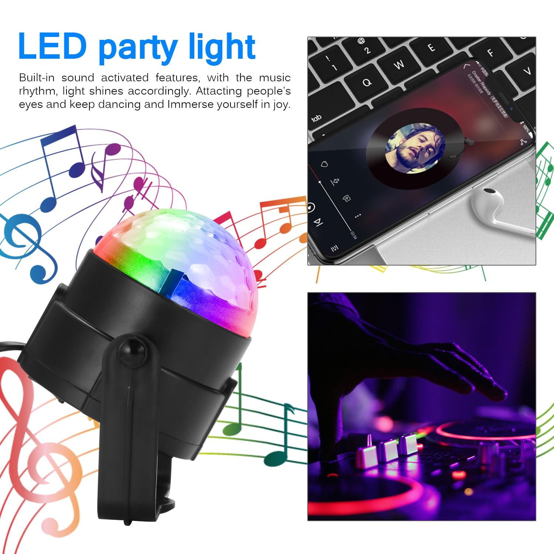 Luces Led de discoteca luces de escenario DJ Disco bola Lumiere sonido activado láser proyector efecto lámpara luz música fiesta de navidad