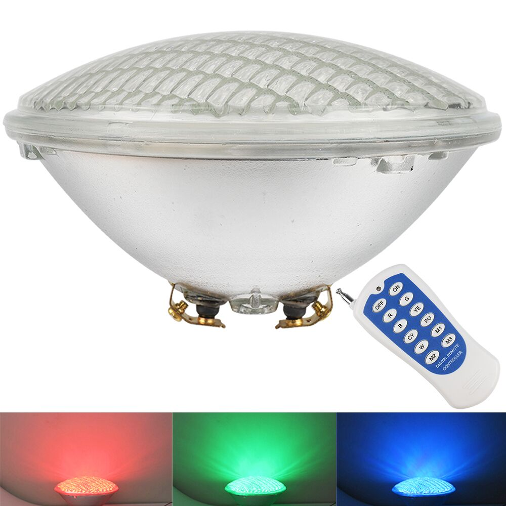 (4pcs/Lot) RGB Underwater Lamp Par56 AC12V Pond Lights Waterproof Swimming Pool Party LED Lighting With Remote Controller enlarge