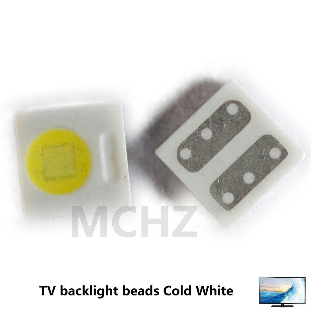 مصباح ليد عالي الطاقة باستطاعة 1 واط, 500 3030 قطعة ، ضوء أبيض بارد ، لتطبيق التلفزيون 2828 smd LED ، 1 واط ، 3.6 ، 3 فولت-3030 فولت
