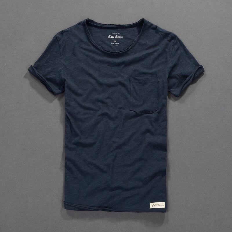 Camiseta de verano para hombre, camiseta de algodón de manga corta de bambú de 100% sólido, camiseta de hombre de fábrica directa, camiseta de cuello redondo para hombre
