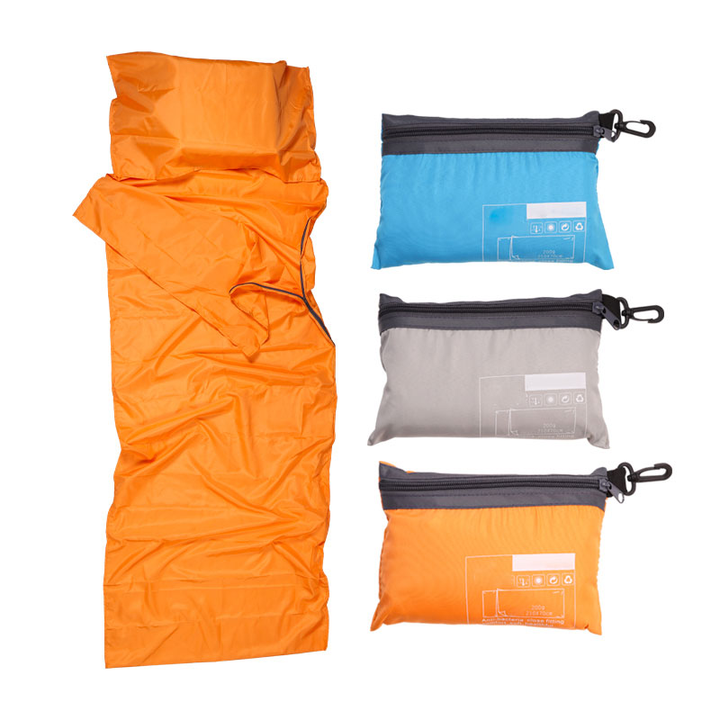 Saco para dormir al aire libre ultraligero forro poliéster Pongee sacos de dormir individuales Camping viaje saludable saco para dormir al aire libre