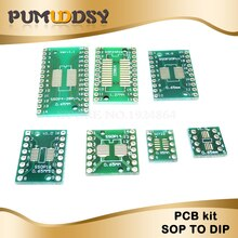 35pcs = 7 wert * 5pcs PCB Board Kit SMD Drehen Zu DIP SOP MSOP SSOP TSSOP SOT23 8 10 14 16 20 24 28 SMT Zu DIP