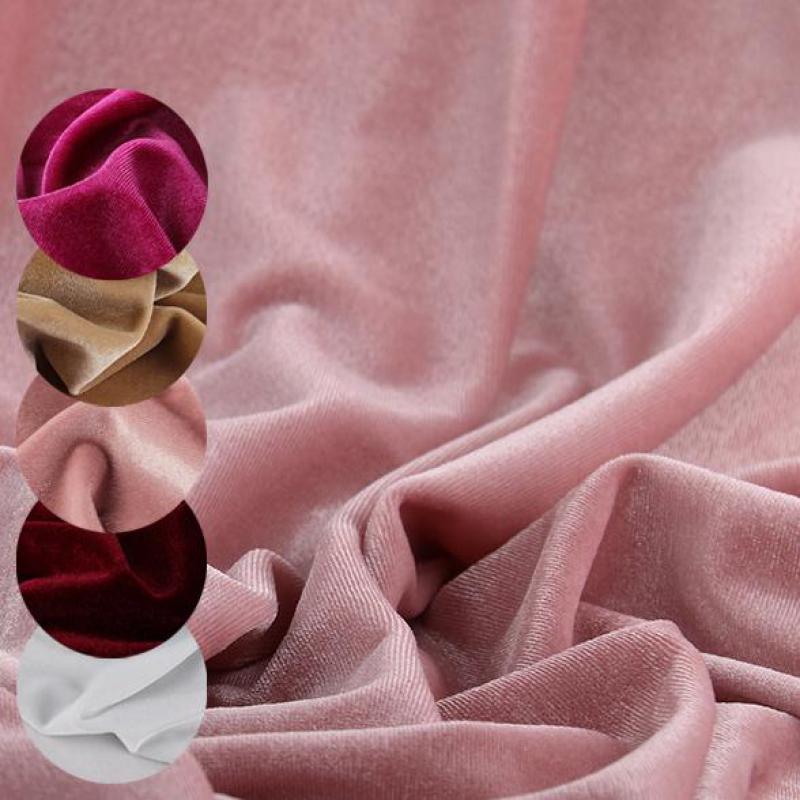 Корейский вязаный велюр, Вельветовая растягивающаяся ткань для штор, мягкие игрушки, платья, трикотажные ткани Джерси, 0,5 м