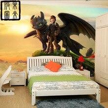How to Train Your Dragon Photo Wallpaper 3D Cartoon wallpaper  Wall Mural Designer Art Boys Kids Room decor Bedroom Living room