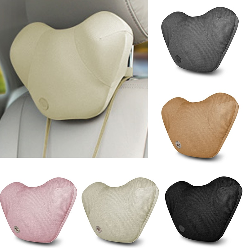 LOEN Car Neck Pillow Seat Back Support Cushion Seat Cover Headrest Waist Lumbar Pillow Nap Pads Car