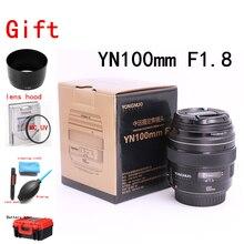 Yongnuo 100 MM F2 obiektyw duży otwór przysłony AF/fundusz powierniczy średni teleobiektyw Prime Lente makro YN100mm obiektyw do Nikon D7200 D7100 D7000 kamera
