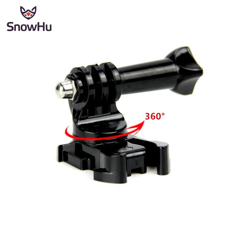 Snowhu 360 graus girar j-gancho fivela base vertical superfície montagem adaptador para gopro hero 8 7 6 5 4 para xiaomi yi 4 k eken gp203b
