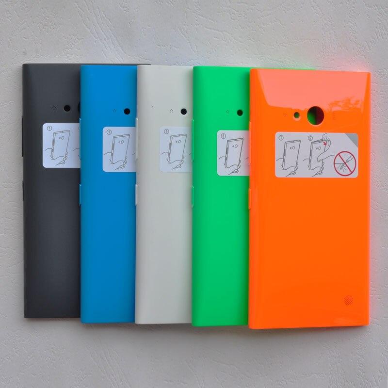 BINYEAE Original cubierta de batería de plástico para Nokia Lumia 730/735 carcasa trasera con NFC + llaves laterales 730/735 pieza de reemplazo