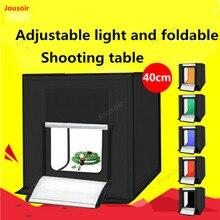 Lightbox 40CM LED Mini Fotostudio Doos 5500LM sieraden Fotografie Light Tent set 6 Kleur Achtergronden Draagbare Tas CD50 T03Y