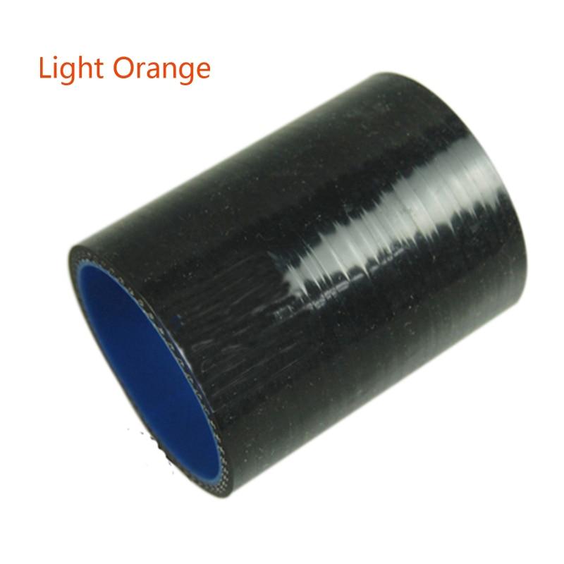3ply preto ID 51MM/57MM/60M/63MM/70MM/76MM Reta Silicone Acoplador Mangueira Turbo silicone mangueira de Tubo De Admissão De Ar Comprimento 76mm