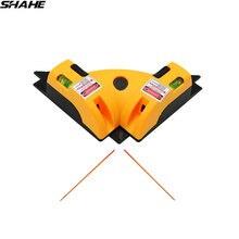 SHAHE Angle droit 90 degrés verticale horizontale ligne Laser Projection carré Laser niveau outil de mesure niveau Laser