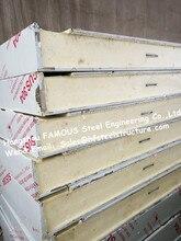Klassische Aluminium-stahl-kühlraum Baumaterial Kühlraum-panel Sandwich PU Panel Für Spaziergang Im Kühlhaus Und Kühlraum Kammern 1150mm