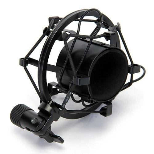Mejores OFERTAS micrófono Mic negro choque montajes se adapta a MXL, EV micrófonos condensador