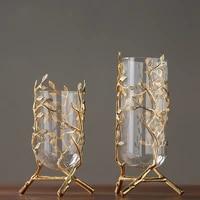 modern minimalist golden glass vase decoration hotel model room decoration club lobby home decoration ornaments