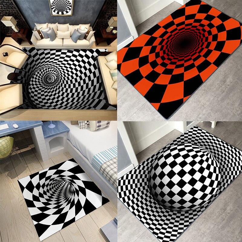 Creative אירופה סוג 3D מודפס בית שטיח מסדרון שטיחים באזור אמבטיה מטבח מערכות מחצלת שפשפת גיאומטרי דפוסים שטיחים