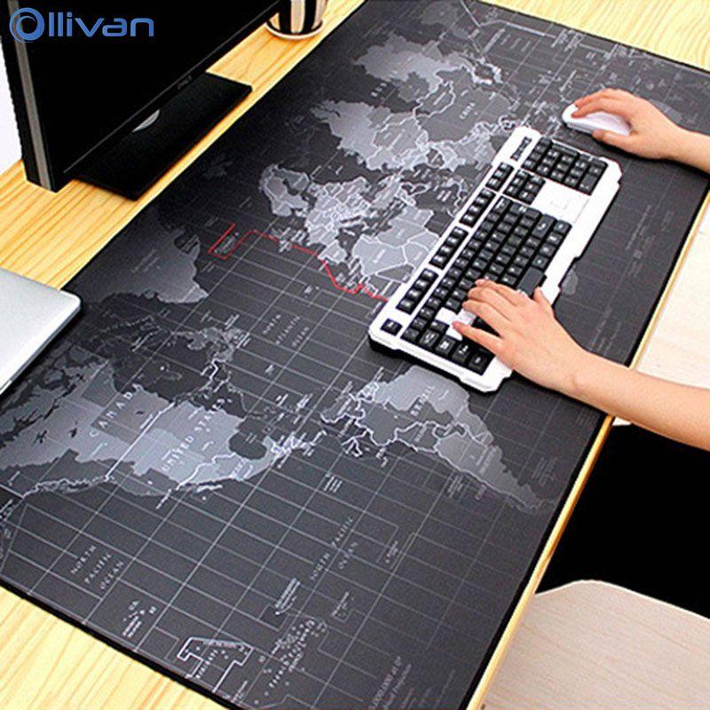 RGB Extra Große Gaming Mouse Pad Welt Karte Gaming Mauspad Große Natürliche Gummi Tastatur pad Maus Matte Große Computer Schreibtisch matte