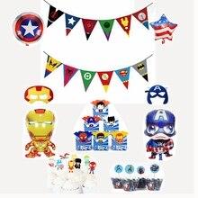 Superhero Avengers thema kinder geburtstag party banner flagge candy box popcorn box ballon baby shower party dekoration