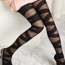 Sexy Vrouwen Goth Rocker Cross Bandage Bandjes Broek Panty Panty Kousen Hot Item Hot