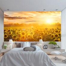YBZ052 papier peint Mural personnalisé   Magnifique décor pittoresque Prairie, peinture de chambre à coucher, décoration de la maison