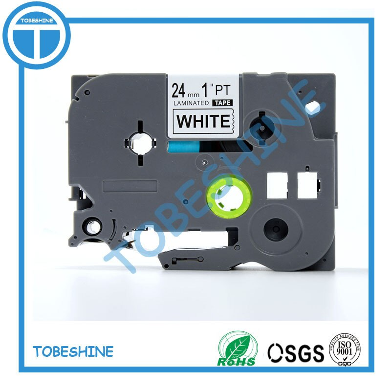 Tz-شريط لاصق عالي الجودة 100% ، 24 مللي متر ، متوافق مع طابعة P touch TZe251 tz251