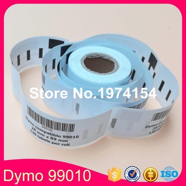 12 совместимые рулоны Dymo 99010 этикетки 28 мм * 89 мм 130 шт./рулон, совместимые с LabelWriter 400 450 450Turbo принтер SLP 440 450